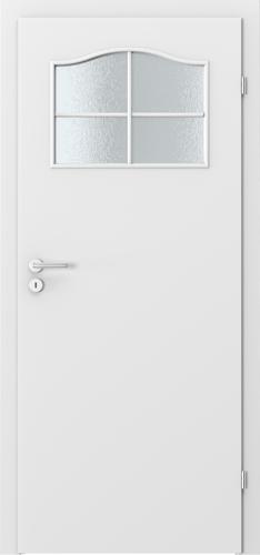 Interiérové dveře MINIMAX model 1/3 sklo s rámečkem