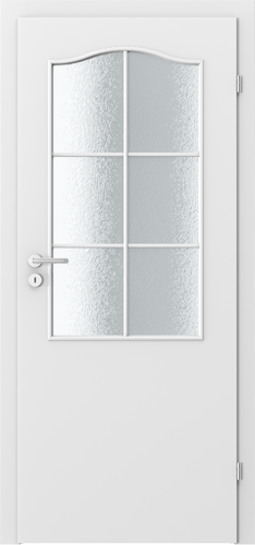 Interiérové dveře MINIMAX model 2/3 sklo s rámečkem