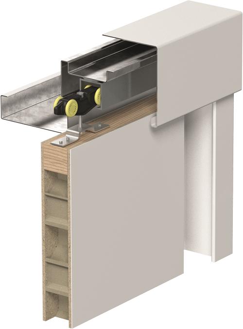 Zalamovací a posuvné dveře Posuvný systém METAL model Posuv po zdi KOVOVÝ
