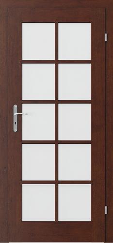 Interiérové dveře CORDOBA model 3/3 sklo s rámečkem