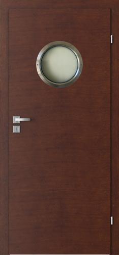Interiérové dveře Natura CLASSIC model Model 7.1. s kovovým kulatým prosklením