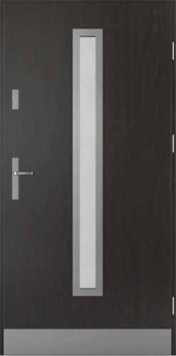 Vchodové dveře do domu Ocelové SAFE model Vzor B2 (B1+oboustranný panel)