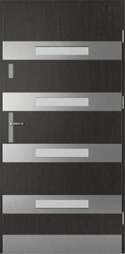 Vchodové dveře do domu Ocelové SAFE model Vzor F2 (F1+oboustranný panel)