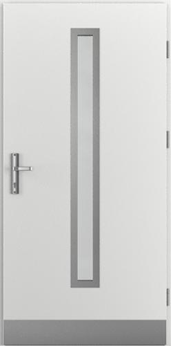Vchodové dveře do domu Ocelové ENERGY PROTECT model Vzor B2 (B1+oboustranný panel)