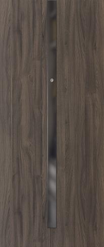 Vchodové dveře do bytu OPAL – třída RC 2 model OPAL, aplikace černé sklo