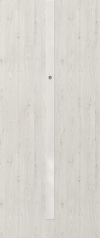 Vchodové dveře do bytu OPAL – třída RC 2 model OPAL, aplikace bílé sklo