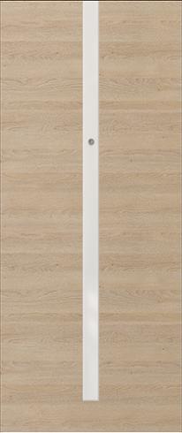 Vchodové dveře do bytu OPAL – třída RC 2 model OPAL, white application (horizontal graining Gladstone)