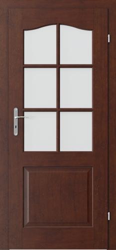 Interiérové dveře MADRID model 2/3 sklo s rámečkem