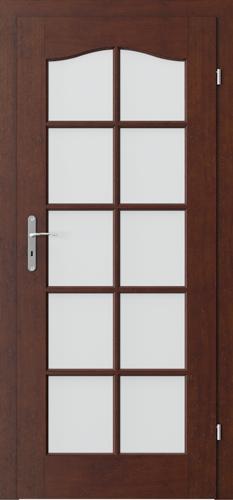 Interiérové dveře MADRID model 3/3 sklo s rámečkem