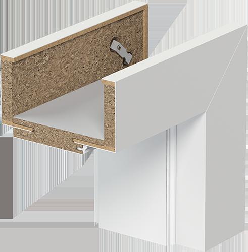 Zárubně a světlíky Porta SYSTEM ELEGANCE - Jednokřídlé model Porta SYSTEM ELEGANCE, typ B (95-115mm)